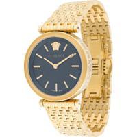 Versace Relógio V-Twist 36Mm - Dourado