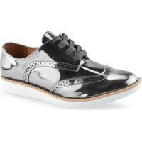 Sapato Oxford Feminino Metalizado Vizzano 1231101