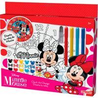 Conjunto De Artes - Relógio Para Colorir - Disney - Minnie Mouse - New Toys