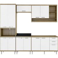 Cozinha Compacta La Plata 11 Pt 3 Gv Argila E Branco