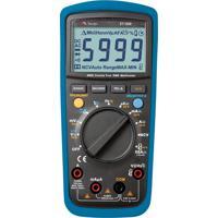 Multímetro Digital Automático Preto E Azul Et1649 Minipa