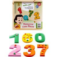 Números Com Pinos Em Eva Com 10 Num. + Pinos - Fundamental - Kanui