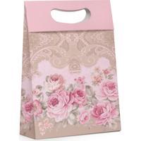10 Caixas Para Presente Floral Rosa G Festas