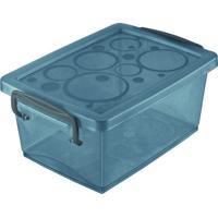 Mini Caixa Organizadora Com Trava- Cinza Escuro- 650Ordene