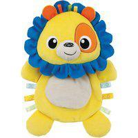 Leão De Pelúcia Winfun 0198-Ni Amiguinho Do Bebê Amarelo/Azul
