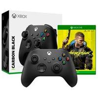 Controle Microsoft Xbox, Sem Fio, Preto - Qat-00007 + Game Cyberpunk 2077