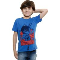 Camiseta Infantil Super Homem Liga Da Justiça