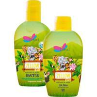 Kit Shampoo Infantil Delikad + Colônia Delikad Infantil Safari Hyppo Yellow - Feminino-Incolor