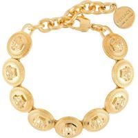 Versace Pulseira Com Pingente Medusa - Dourado