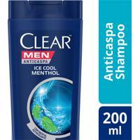 Shampoo Clear Ice Cool Menthol - 200Ml