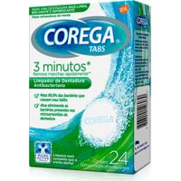 Limpador De Dentadura Corega Tabs 24 Comprimidos Efervecentes