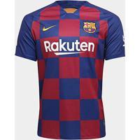 Camisa Do Barcelona Home 19/20 S/Nº Torcedor Nike Masculina - Masculino