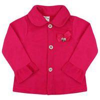 Casaco Bebê Feminino Soft Pink Com Botões (1/2/3) - Fantoni - Tamanho 3 - Pink