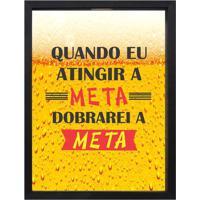 """Print Porta Tampinhas """"Atingir A Meta""""- Preto & Amarelo"""