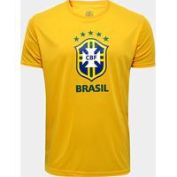 Netshoes  Camisa Brasil Logo 2018 Masculina - Masculino a619de6700d