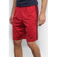 Bermuda Adidas Tric 3S Masculina - Masculino-Vermelho+Preto