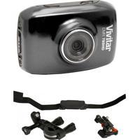 Câmera Vivitar Hd Dvr785 Vivitar + Suportes P/ Bike Preta - Tricae