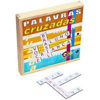 Jogo Palavras Cruzadas Carlu 72 Peças Em Mdf Colorido
