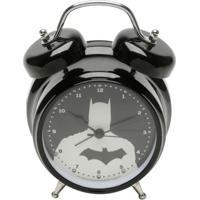 Relógio Despertador Em Metal Com Led E Som Batman