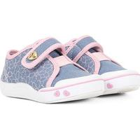 Tênis Infantil Klin Toy Velcro Feminino - Feminino-Jeans