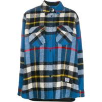 We11Done Camisa Oversized Xadrez - Azul
