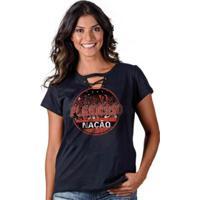 Netshoes  Camisa Flamengo Metal Braziline Feminina - Feminino 5f43b3e75debf