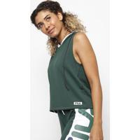 Blusa Com Capuz - Verde & Brancafila