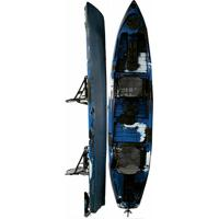 Caiaque Caiman 135 Duo Hidro2 Azul Com Preto - Unissex