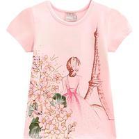 Blusa Bebê Milon Paris Strass Feminina - Feminino-Rosa