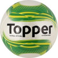 Bola De Futsal Topper Champion - Branco Verde 163da01e06489