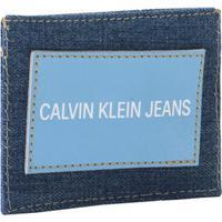 Carteira Porta Cartão Ckj Masc Jeans - Azul Royal - U