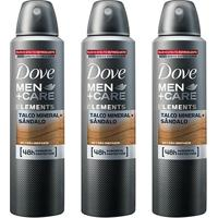 Kit Desodorante Dove Men + Care Aerosol Talco Mineral E Sândalo Masculino 150Ml 3 Unidades - Masculino