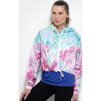 Jaqueta Nike Sportwear Hyperflora Vwn Feminina - Feminino-Azul+Branco