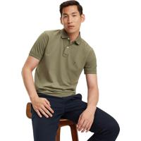 Polo Tommy Hilfiger Masculina Regular Fit Dusty Olive