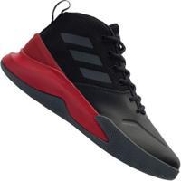 Tênis Cano Alto Adidas Own The Game - Masculino - Preto/Cinza Esc