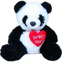 Urso Panda 313 Toys C/ Coração Multicolorido