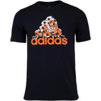 Camiseta Adidas Stripe Team - Masculina - Preto