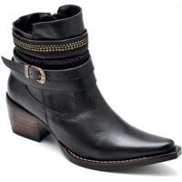 Bota Top Franca Shoes Country - Feminino-Preto