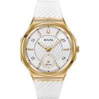 42ccca6af85 Relógio Bulova Feminino Borracha Branca - 98R237