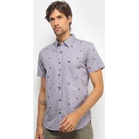 Camisa Hd Miniprint Masculina - Masculino-Mescla