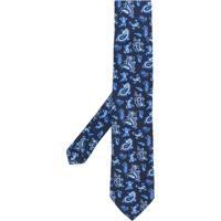 Etro Gravata Com Estampa Paisley De Seda - Azul