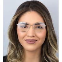 Óculos De Grau Love Moschino Metal Dourado-Mol569 Qwu 5217