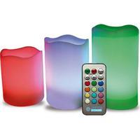 Lâmpada Decorativa Vela Led Rgb Melancia Com Controle - Lm371 - Luminatti - Luminatti