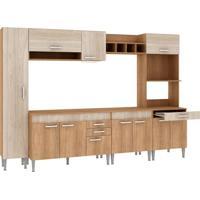 Cozinha Compacta Classic Flex 11 Pt 3 Gv Carvalho Com Blanche