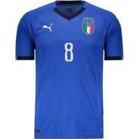 Netshoes  Camisa Puma Itália Home 2018 N°8 Verratti Masculina - Masculino e99c440eb382e