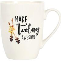 "Caneca ""Make Today Awesome""- Branca & Preta- 330Ml"