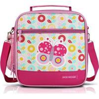 Lancheira Térmica Infantil Jacki Design Borboleta Feminina - Feminino-Pink