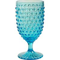 Taça De Água Hobnail Blue