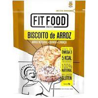 Biscoito De Arroz Com Quinoa E Linhaça 90G Fit Food