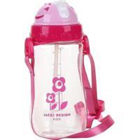 Garrafa Infantil Jacki Design Coração Feminina - Feminino-Rosa Escuro
